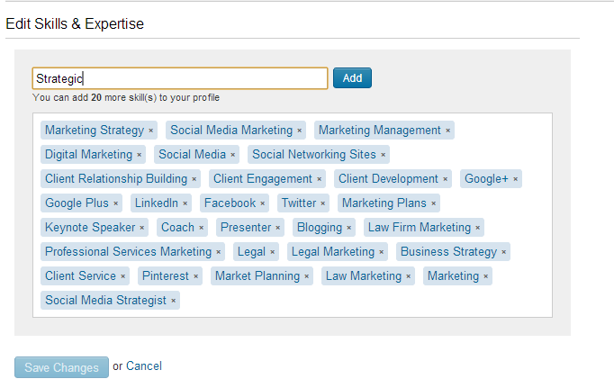 Adding skills to your LinkedIn profile
