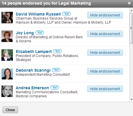 How to hide a skills endorsement on your LinkedIn profile