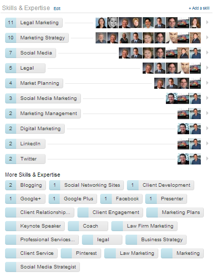 The Skills & Expertise section of my profile on LinkedIn