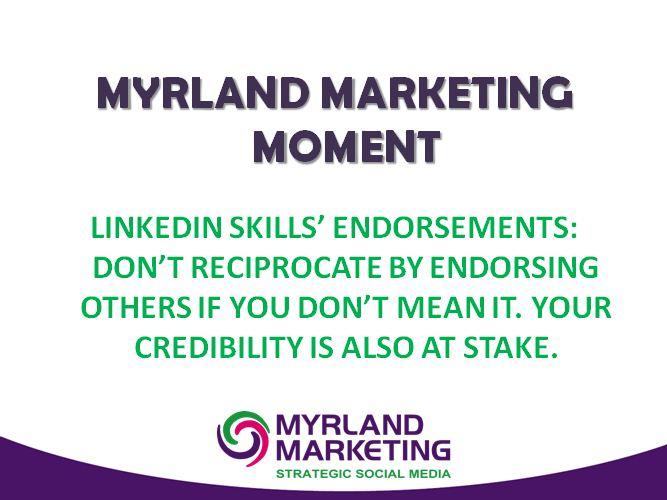 LinkedIn Skills' Endorsements - Should You Reciprocate?