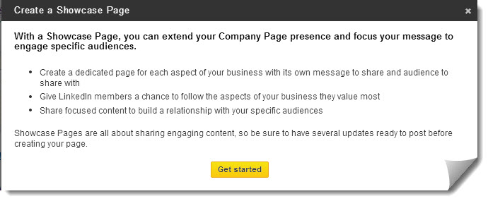 How To Create a LinkedIn Showcase Page - Step 2